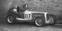 Bert Hadley with his car